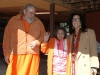 Ma with Ma Yoga Shakti after receiving the title of Mata Maha Mandaleshwar, 2006